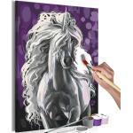 Tableau à Peindre Soi-Même Licorne Blanche 40x60cm - Paris Prix