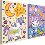 Tableau à Peindre Soi-Même Licornes Bonjour & Bonne Nuit 23x33cm