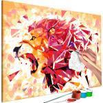 Tableau à peindre soi-même peinture par numéros motif lion abstrait 60x40 cm TPN110001