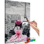 Tableau à peindre soi-même peinture par numéros motif Paris - vue sur la Tour Eiffel 40x60 cm TPN110125