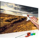 Tableau à peindre soi-même peinture par numéros motif Plage sauvage 60x40 cm TPN110136