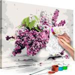 Tableau à peindre soi-même peinture par numéros motif Vase et fleurs 60x40 cm TPN110159