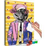 Tableau à Peindre Soi-Même Tiger in Hat 40x60cm - Paris Prix