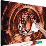 Tableau à Peindre Soi-Même Tiger & Ornaments 40x60cm - Paris Prix