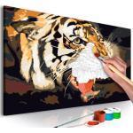 Tableau à Peindre Soi-Même Tigre Rugissant 40x60cm - Paris Prix