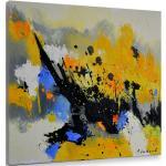 Tableaux abstraits Hexoa jaunes
