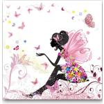 Tableaux en pin à motif papillons pour enfant