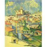 Tableau, Impression Sur Toile - Gardanne Paul Cézanne Cm. 80x100