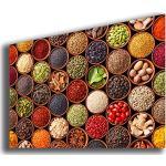 Tableau moderne XXL épices 30 x 50 cm nourriture ethnique curcuma curry tableaux modernes art cuisine salon salle de bain restaurant pizzeria