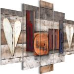 Tableau sur toile en 5 panneaux décoration murale image imprimée cadre en bois à suspendre Cottage Enchanté (5 Pièces) Large 225x100 cm 11_0008786