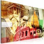 Tableau toile de décoration motif Rome charmant triptyque 90x60cm DEC110509
