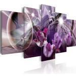 Tableau toile de décoration motif tulipe violette 100x50cm DEC110114/2