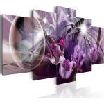Tableau Toile De Décoration Motif Tulipe Violette 200x100cm Dec110115/2