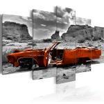 Tableau toile de décoration motif Voiture orange 100x50cm DEC110222/2