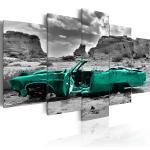 Tableau toile de décoration motif voiture verte 100x50cm DEC110220/2