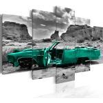 Décorations vertes à motif voitures