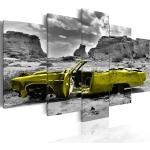 Décorations jaunes à motif voitures