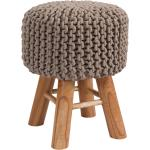 Tabouret tricot Lisa taupe