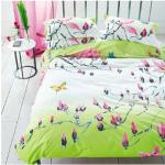 Taie d'oreiller imprimée en percale de coton, Madame Butterfly Vert Designers Guild