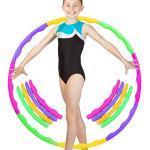 TaimeiMao Hula Hoop pour Enfants Amovible,8 Sections Hula Hoop Fitness, Hula Hoops pour l'exercice,Hula Hoop pour Amovible, Hula Hoop avec Mousse, Hula Hoop d'exercice Fitness (A)