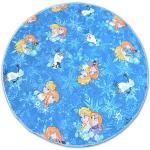 Tapis Cercle Frozen Bleu La Reine Des Neiges Elsa Cercle 100 Cm