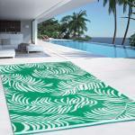 Tapis extérieur COCO tropical vert 160 x 260 CM