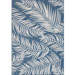 Tapis d'extérieur Nazar bleus à motif palmier