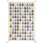 Tapis Kilim triangles Bleu Art for Kids