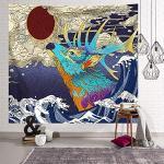 Tapisserie murale à suspendre style bohème décoration de la maison Tapisserie Tapestry pour la décoration de table, le salon, la chambre à coucher M,150 150cm