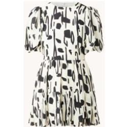 Ted Baker Mini-robe Splodge en soie à volant