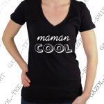"""Tee-Shirt """"Maman Cool"""". Idée Cadeau Fête Des Mères"""
