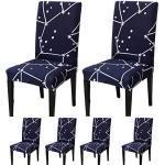 TEERFU Lot de 6 housses de chaise de salle à manger extensibles et lavables en élasthanne pour banquet hôtel et cérémonie de mariage
