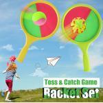 Tennis Toys 2-En-1 Toss & Catch Jeu De Raquette De Jeu De Plage Jouet Pour Enfants Jeu D'été L5017
