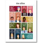 The Office TV Show Characters Poster Wall Art Canvas Painting The Office Fans Gifts Motivational Movie Quote Prints Wall Decor-40x60cm Sans Cadre