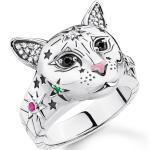 Bagues d'humeur Thomas Sabo multicolores à motif chats pour femme