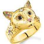 Bagues d'humeur Thomas Sabo blanches à motif chats pour femme