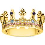 Thomas Sabo Bague couronne dorée multicolore