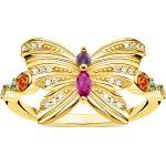 Thomas Sabo bague papillon or multicolore