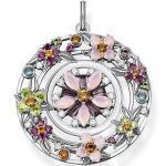 Thomas Sabo Pendentif amulette fleurs pierres multicolores argent multicolore