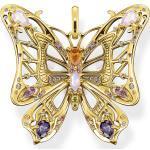 Thomas Sabo Pendentif papillon pierres multicolores argent-or multicolore