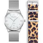 Thomas Sabo SET CODE TS montre blanche et bracelet imprimé animal beige