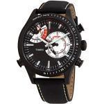 Timex Hommes Chronographe Quartz Montre avec Bracelet en Cuir TW2P72600