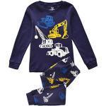 Tkiames Enfants Garçons Ensembles de Pyjama Mignonne Tracteur Bleu Marine,2 Ans