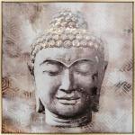 Toile imprimée Bouddha encadrée 102x102 cm