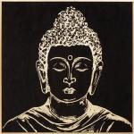 Toile imprimée Bouddha encadrée 58x58 cm