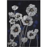 Toile imprimée Fleurs 50x70 cm