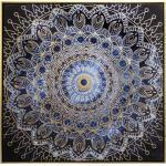 Toile imprimée mandala encadrée 75x75 cm