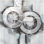 Toile peinte Abstrait grise 78x78 cm