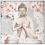 Toile peinte Bouddha encadrée 78x78 cm