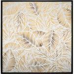 Toile peinte Feuilles encadrée 78x78 cm